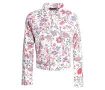 Floral-print Cotton-canvas Jacket Off-white