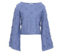 Fil Coupé Cotton Sweater Light Blue
