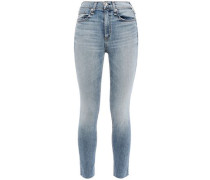 High-rise Skinny Jeans Light Denim  3