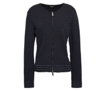 Ribbed-knit Jacket Black