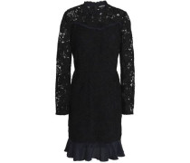 Lana ruffle-trimmed guipure lace mini dress