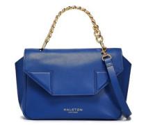 Leather Shoulder Bag Royal Blue Size --