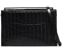Woman Quilted Leather Shoulder Bag Black