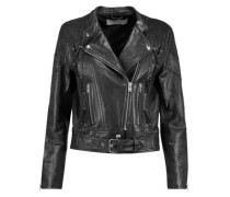 Totem textured-leather biker jacket