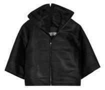 Coated woven jacket