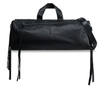 Convertible Leather Weekend Bag Black Size --