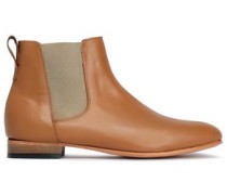 Troy Suede Ankle Boots Camel