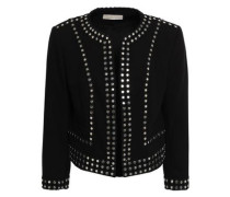 Studded Crepe Jacket Black