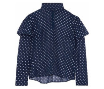 Angelica layered polka-dot chiffon blouse
