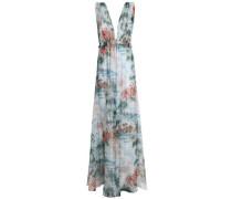 Floral-print silk-voile maxi dress