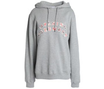 Embroidered French cotton-terry sweatshirt