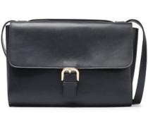 Leather Shoulder Bag Navy Size --
