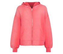 The Bailer Faded French Cotton-terry Hoodie Coral Size 0