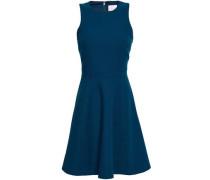 Flared Jersey Mini Dress Storm Blue