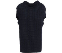 Woman Wool-blend Jacquard Top Navy