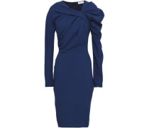 Belladonna Draped Crepe Dress Royal Blue