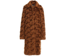 Mohair And Cotton-blend Coat Light Brown