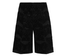 Flocked faille shorts