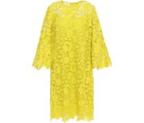 Guipure Lace Dress Bright Yellow