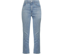 High-rise Slim-leg Jeans Light Denim  8