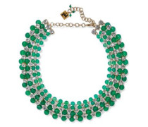Cervinia Gold-tone, Quartz And Crystal Choker Emerald Size --