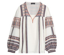 Dakota Embroidered Cotton Tunic Off-white