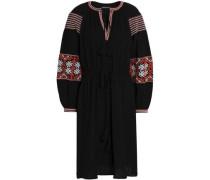 Mobi embroidered cotton-gauze dress