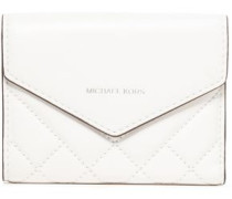 Small Quilted Leather Wallet White Size --