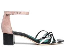 Fonseca knotted leather and suede sandals