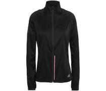 Reflective-trimmed Tech-jersey Track Jacket Black