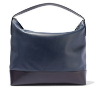Two-tone Leather Tote Navy Size --