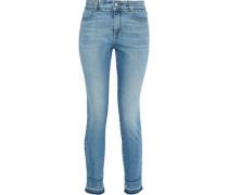 Cropped Mid-rise Skinny Jeans Light Denim  4