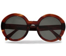 Woman Avana Round-style Acetate Sunglasses Dark Brown