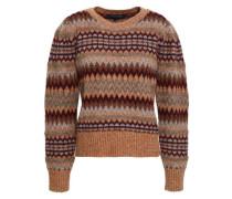 Wool-blend Jacquard Sweater Brown
