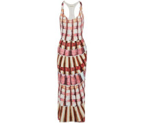 Printed modal-blend maxi dress