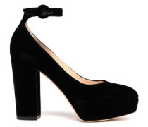 Sherry Velvet Platform Pumps Black
