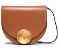 Moline Leather Shoulder Bag Camel Size --