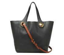 Embellished Leather Tote Navy Size --
