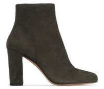 Suede Ankle Boots Army Green