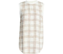 Checked crepe blouse