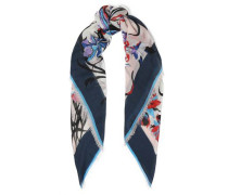 Printed Cashmere And Silk-blend Scarf Ivory Size --