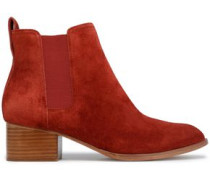 Suede Ankle Boots Brick
