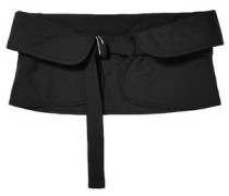 Quilted Wool And Mohair-blend Waist Belt Black
