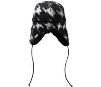 Sammy Houndstooth Knitted Trapper Hat Black Size ONESIZE