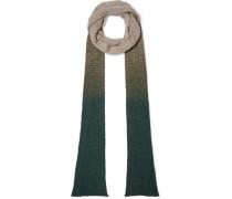 Remy S Mouliné ribbed degradé cotton-blend scarf