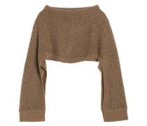 Open-knit poncho