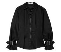 Buckle-detailed Cotton-blend Shirt Black