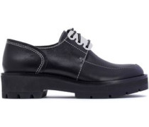Cat two-tone leather brogues