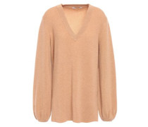 Woman Ribbed Cashmere Sweater Sand