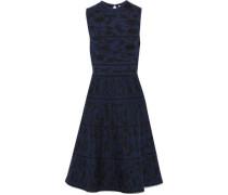 Metallic Wool-blend Jacquard Dress Navy